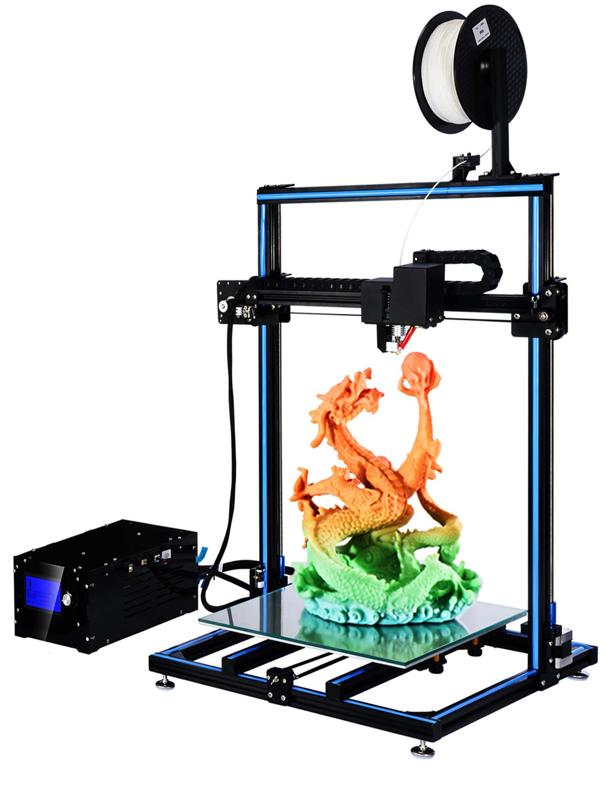 ADIMLab Imprimantes 3D Assemblé I3 Plus 3D Printer 310X310X410 Impression en 3D avec Heatbed Bed et Glas PLA, Offer Auto Leveling Update Method