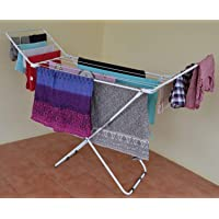 CLASSY 'N' COZY New Cloth Drying Stand/Fold-able drying Racks/Rust Proof Cloths Drying Stand (White)
