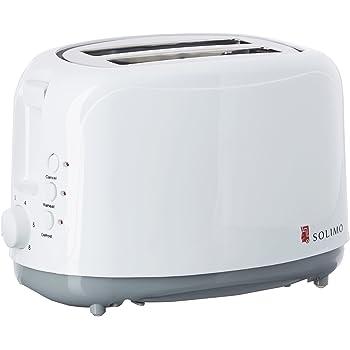 Amazon Brand - Solimo 750-Watt Pop-up Toaster (White)