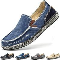 Homme Chaussures en Toile Bateau Espadrilles Flâneurs Poids léger Appartement Doux Durable Fait Main Anti-dérapant…