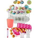 Cakes of Eden Complete Cake Pop Maker Kit -Jam Packed with Silicone Cake Pop Baking Mold, 120 Lollipop Sticks, Candy Chocolat