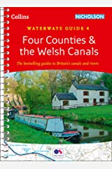 Four Counties & the Welsh Canals: Waterways Guide 4 (Collins Nicholson Waterways Guides) Spiral-bound