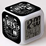 Kpop Group BTS JIMIN Bangtan Boys Album Love Yourself LED 7 Color Flash Changing Night Light Alarm Clocks