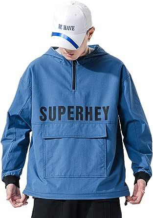 VANVENE Pullover Hoodie Hooded Sweatshirts Mens Women Unisex Quarter Zip Sweater Long Sleeve Casual T-Shirt