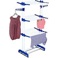 Parasnath 2 Pole Clothes Rack Hanger with with Breaking Wheel System for Drying Clothes (Made in India) Limited Time…