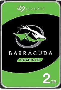 Seagate BarraCuda 2 To, Disque dur interne HDD – 3,5 pouces SATA 6 Gbit/s 7 200 tr/min, 64 Mo de mémoire cache, pour PC de bureau et portable (ST2000DM006)