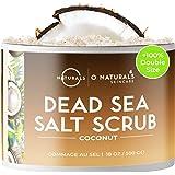 O Naturals Exfoliante de Aceite de Coco y Sal del Mar Muerto, Limpieza Profunda de Cara Cuerpo y Pies. Anticelulítico, Trata
