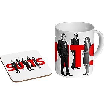 Coffee Mug Coaster Gift Set Katy Perry Colour Ceramic Tea