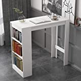 vidaXL Bar Table with Moveable Shelf Oak Coffee Dining Tall Breakfast Stand