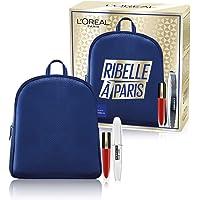 L'Oréal Paris Idea Regalo Donna Natale 2020, Zainetto con Mascara Volumizzante Ciglia Finte Farfalla e Rossetto Liquido…