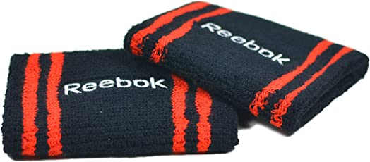 Reebok Set Of 2 Wristbands Black/Red