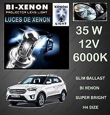 Volga Bi-Xenon HID Kit H4 Size Hi-Low Beam 35W 6000K Dimond White For Hyundai Creta