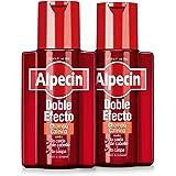 Alpecin Doble Efecto 2x 200ml | Champu anticaida hombre y anticaspa hombre | Alpecin Champu con cafeina tratamiento para la c