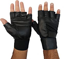 SportsFitt Gym Gloves/Cycling Gloves/Riding Gloves/Stretchable Size for Both Men and Women, Odor-free and Clean (Black)