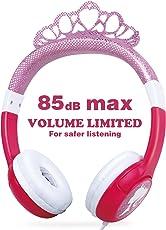 OneOdio Kinderkopfhörer mit Lautstärkebegrenzung 85dB, Mädchen Prinzessin Kinder Kopfhörer ab 3 Jahre, On Ear Headset 3.5mm Kabelgebundene Leicht Kopfhoerer, (Pink) Kinder
