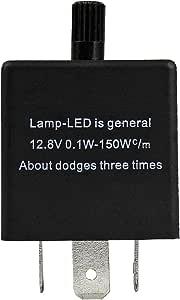 Psmgoods Elektronische Led Blinkrelais Für Car Blinker Blinker Licht 3pin Einstellbar Led Flasher Relay 1 Auto