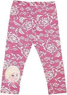 3//8 Jahre M/ädchen Elsa und Anna Full Print Disney Die Eisk/önigin 2 Leggings aus elastischem Stoff