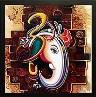 SAF 'Ganesha' Framed Painting (Wood, 12 inch x 12 inch)