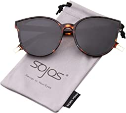 SOJOS Round Sunglasses for Women SJ2057