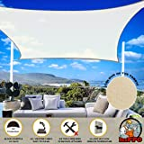 HIPPO - Decorative - Rectangle Sun Shade Sail - 95% Sun Blockage - Attached SS Buckles (Artic Sand, 9.5 ft X 10 ft)