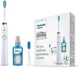 Philips Sonicare DiamondClean Neue Generation Elektrische Zahnbürste mit Schalltechnologie HX9326/86, weiß