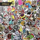 LOETAD Aufkleber Sticker Decals 200pcs Wasserdicht Vinyl für Auto Motorräder Fahrrad Skateboard Gepäck Laptop