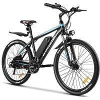 Vivi E-Bike Mountainbike 26/27.5 Zoll Elektrofahrrad 250W Elektrisches Fahrrad mit 36V 10.4Ah Lithium-Batterie und…