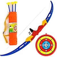 Planet of Toys Archery Bow and Arrow Set for Kids, Boys, Girls - Multicolor (Large)