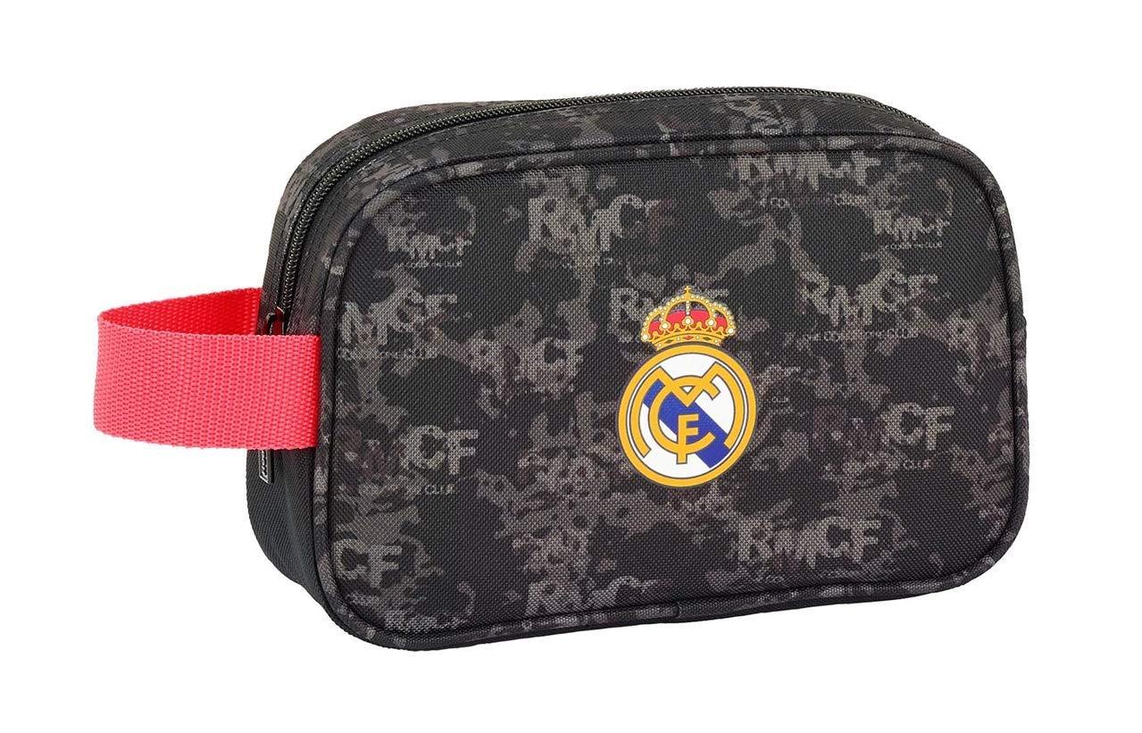 Safta Real Madrid – Neceser de Viaje, Negro, 22 cm