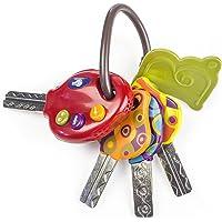 B. toys – LucKeys porte-clés avec 4 clés texturées pour bébés et enfants – Lampe de poche et sons de voiture – 6 mois et…