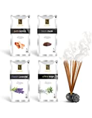 Zed Black Luxury Premium Incense Sticks Combo - 4 Different Fragrances for Aromatic Environment - Fragrance Incense Sticks