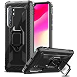 IMBZBK Compatible con Funda Xiaomi Mi Note 10 Lite, 【Anillo de Dedo de rotación de 360 Grados】【Anti-caída】 Soporte magnético