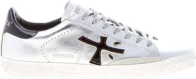 PREMIATA Luxury Fashion STEVEN4713 - Sneakers da uomo in pelle, colore: argento