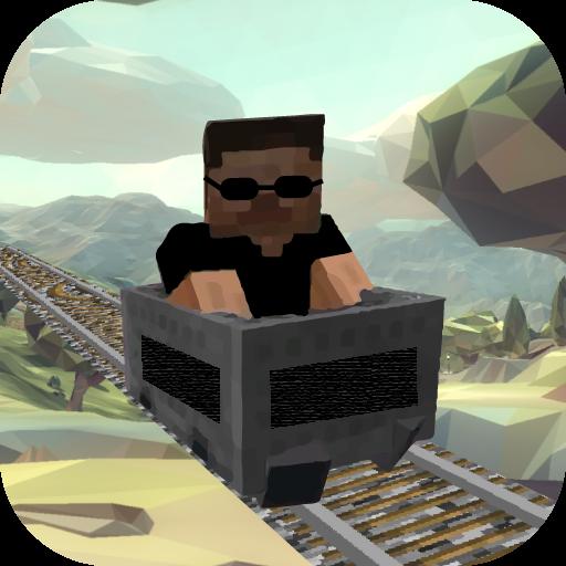 Mine Cart Blockland Rail Adventures 3D Train Roller Coaster Endless Runner