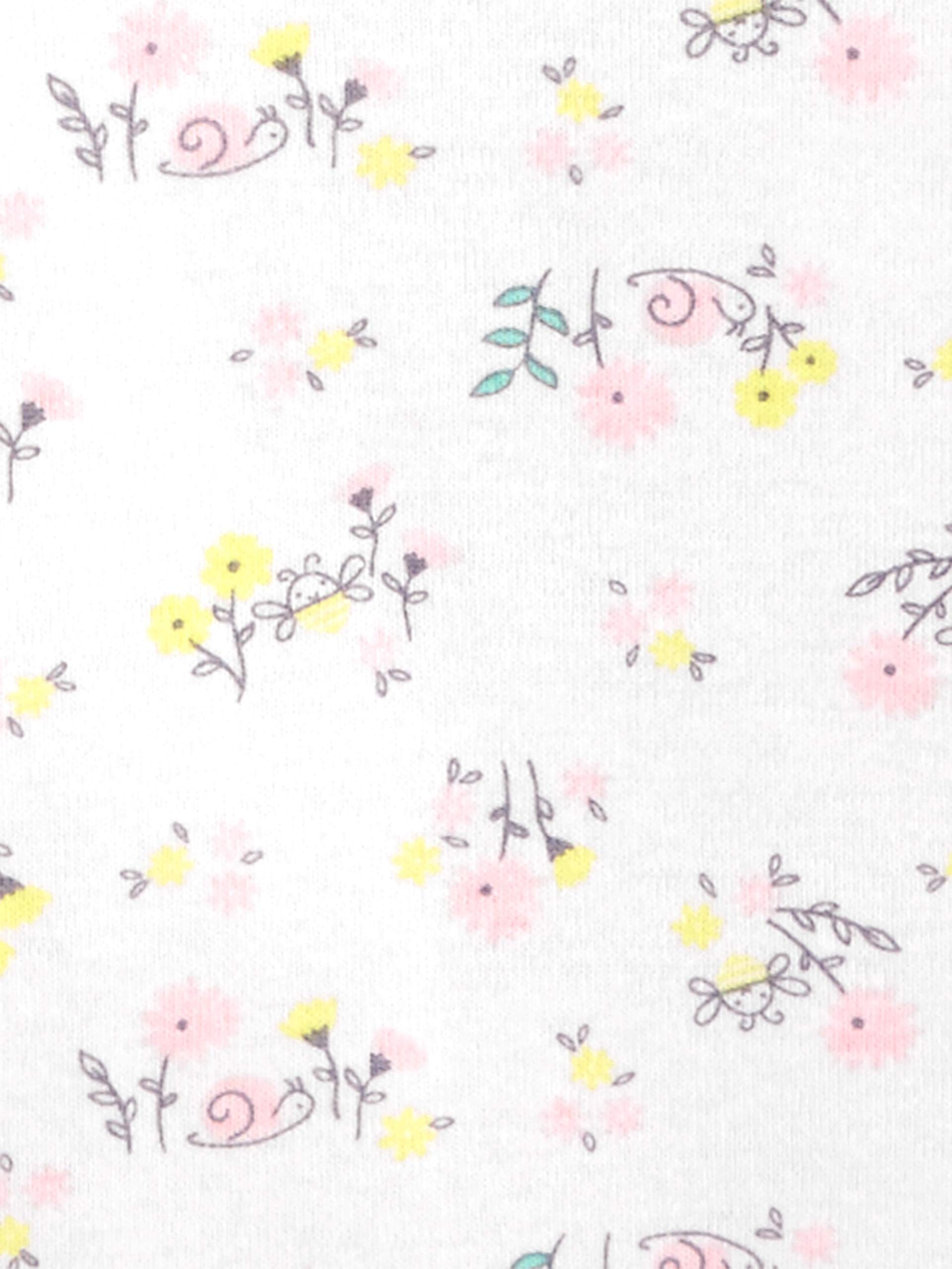 ,Rosado//Amarillo 6 unidades 6-9 Meses Simple Joys by Carters Body de manga corta para ni/ña