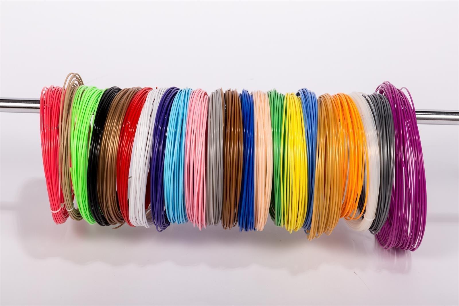 RMAN–Haute Qualité pour imprimante 3d PLA Filament 1KG 1.75mm en différentes couleurs avec bobine/Rouleau pour Makerbot Reprap MakerGear Ultimaker etc.