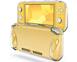 JETech Protective Case for Nintendo Switch Lite 2019, Grip Cover with Shock-Absorption and Anti-Scratch Design (HD Clear)
