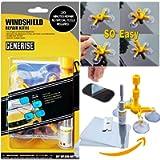 Windscreen Repair Kit GENERISE Auto Windscreen Chip Repair Kit Tool for Chips, Cracks & Glass Repair - Includes Glass…