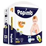 Papimo Baby Medium Size Diaper Pants, 76 Count