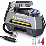 GoMechanic Gusto T2 Digital Car Tyre Inflators Digital with 1 Year Warranty Auto Cut Off 12V DC Portable Air Compressor with