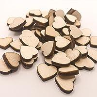 50 Stück Mini Holz Herzen (13mm) Deko Hochzeit Streudeko Geburtstag Holzscheiben zum Basteln Taufe Dekoration…