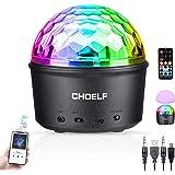CHOELF Discobal LED-nachtlampje, disco lichteffecten met bluetooth-luidspreker, discolamp, muziekgestuurd, 9 kleuren disco la