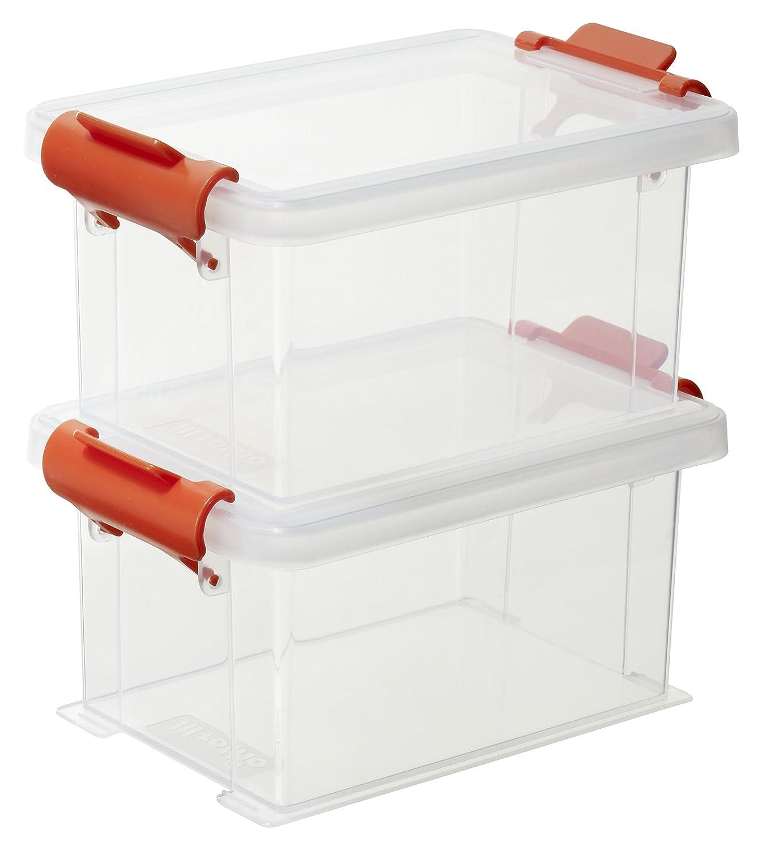Jago Bo Te De Rangement Plastique Transparente Avec Couvercle 7 L