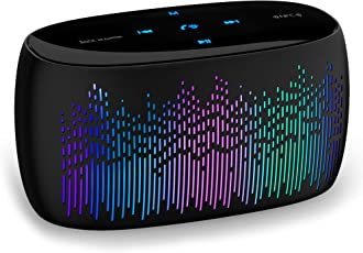 Jack Martin Blink! Portable LED Bluetooth Speaker with Built-in mic, AUX & TF Card Reader (Full Touch)