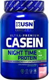 USN Casein, Slow Digesting Premium Protein Shake, 24 g of Protein Per Serving, Strawberry, 908 g