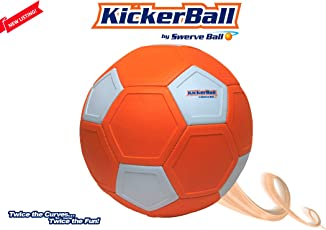kicker ball by Swerve Ball - The Ball- That Bends, Curves, and Swerves - Curve SoccerBall - Extreme Bends (SWRVKBMO, Multicolour)