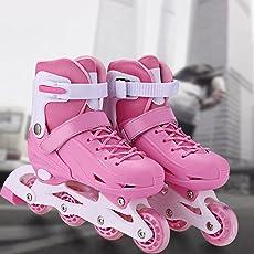 Inline Skates/Rollschuhe Kinder Verstellbare Rollschuhe Mädchen Mesh atmungsaktive Inliner Kinder Rollerblades für Jungen/Mädchen / Jugendliche