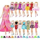 Miunana mucho 22 ARTICULOS: 12 Piezas Vestido Fashion Falda Mini Fiesta Ropas Casual + 10 Zapatos Accesorios como Regalo Esti