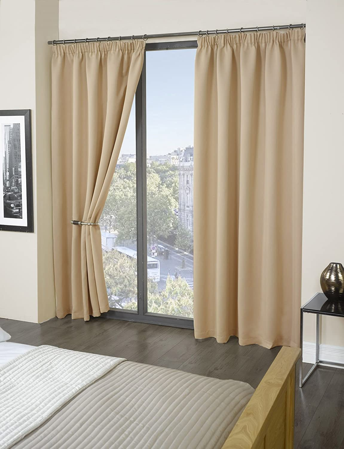 Luxury Thermal Supersoft Blackout Curtains Natural/Cream 66\