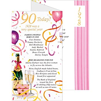 Happy 90th Birthday Greeting Card Ladies Womens Her Quality Verse